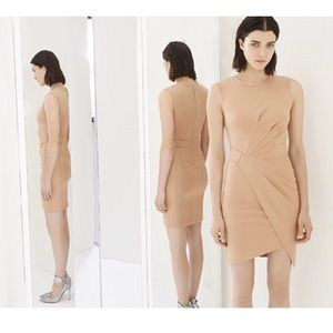 ❤️ Torn by Ronny Kobo Nude Pink Willow Wrap Dress